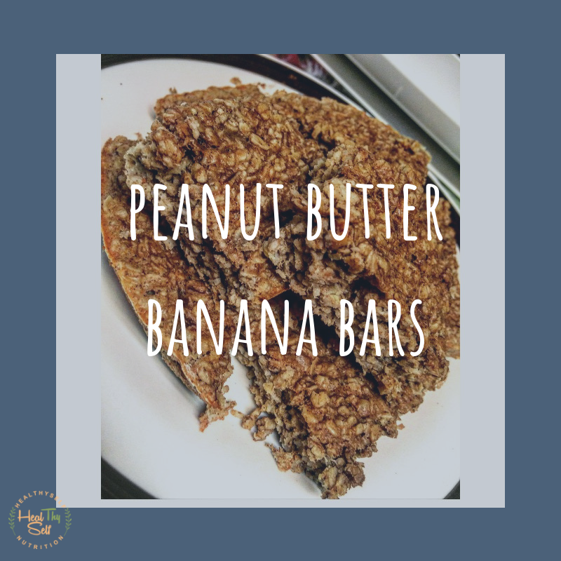 peanut butter banana bar gluten free dairy free